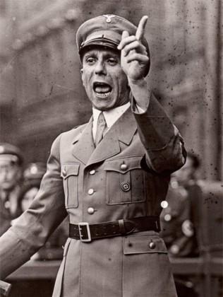 Reichsminister für Volksaufklärung und Propaganda Joseph Goebbels