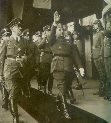 Hitler and Franco in occupied France