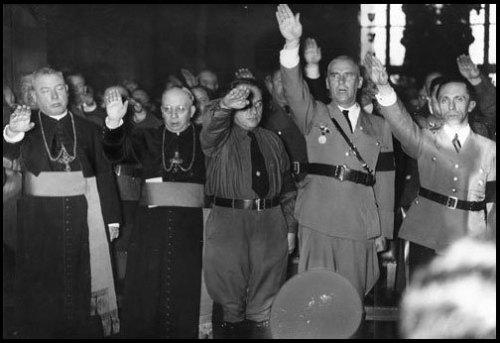 priests salute hitler