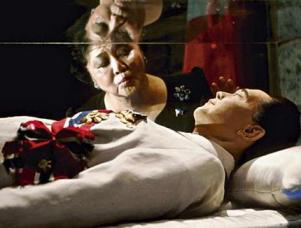Imelda and Ferdinand Marcos together again at the start of a campaign...