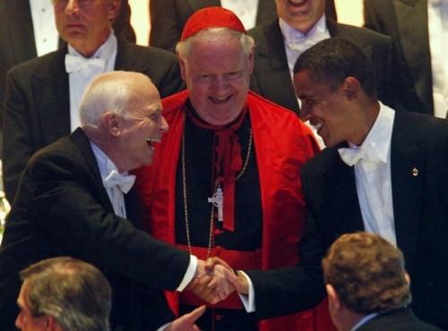 Obama_McCain_shake_Cardinal_Egan