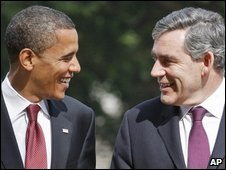 Obama and Brown last met in July before Barack Obama was elected US president
