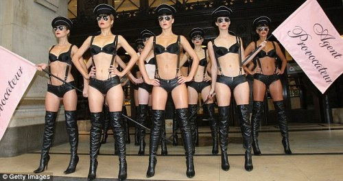 Agent Provocateur's model army marches to promote New World Order Nazi fetish
