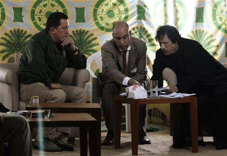 Chavez Libyan leader Muammar Gaddafi Africa-South America Summi