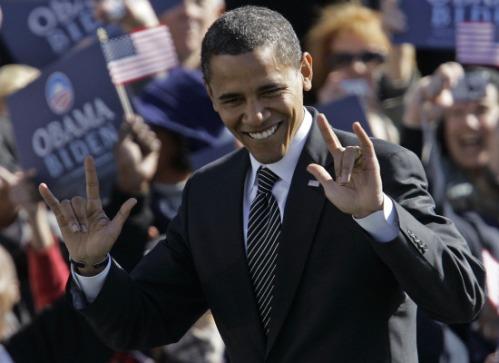 obama devil hands