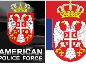 American_Police_Force Serbia flag