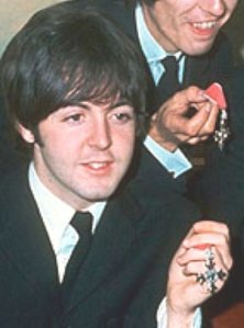 The Beatles were made MBE's in 1965