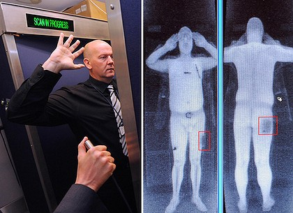 body scanner at Manchester Airport