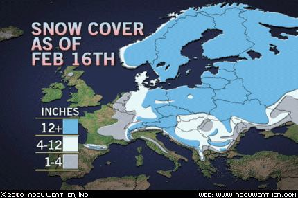 Europe mantled in unusually deep snow cover | Aftermath News