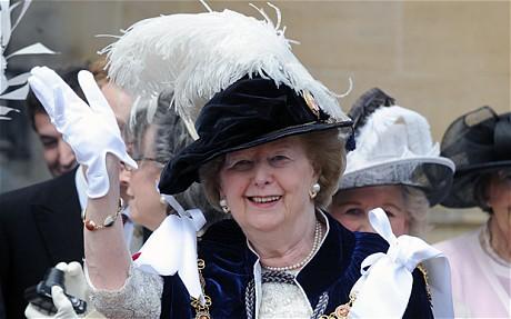 La Baronesa Margaret Thatcher en la Boda Real Garter_1879522c