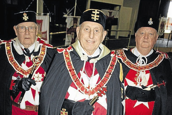 Members of the Order of Knights Templar gather in Australia