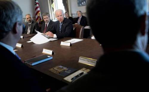 Vice President Joe Biden meets on gun violence with sport shooting and wildlife interest group representatives